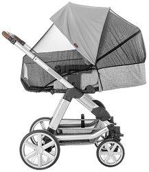 Универсален сенник и мрежа против комари 2 в 1 - Shine Safe Bite - Аксесоар за детска количка, кошче за кола или кош за новородено -