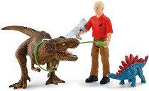 """Лов на тиранозавър - Фигури от серията """"Праисторически животни"""" -"""
