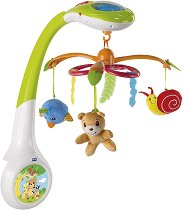 Музикална въртележка с проектор - Magic Forest - Играчка за бебешко креватче -