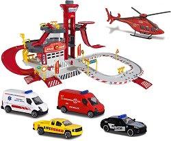 Спасителна станция - Паркинг-писта с асансьор и 5 превозни средства -