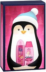 Подаръчен комплект за момичета - Fa Kids & Schauma - Шампоан и душ гел за деца - ролон
