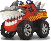 """Monster Truck - Акула - Детска играчка със светлинни и звукови ефекти от серията """"Rasing"""" -"""