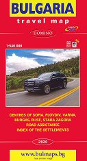 Пътна карта на България на английски език - М 1:540 000 -