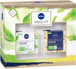Подаръчен комплект - Nivea Naturally Good - мляко за тяло