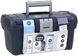 Подаръчен комплект за мъже - Nivea Men Toolbox - Козметика за лице и тяло - продукт