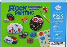 Рисуване върху камъни - Детски творчески комплект - играчка