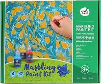 Направи сам - Мраморни картини - Творчески комплект с 6 бои -