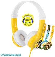 Детски стерео слушалки с декоративни стикери - Yellow