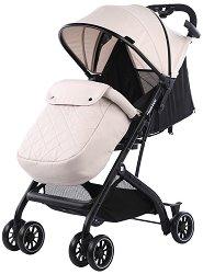 Лятна бебешка количка - Miley - С 4 колела -
