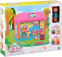 Горска къщичка - Forest Tribe - Детски комплект с бухалче и аксесоари за игра -