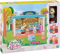 Горска пекарна - Forest Tribe - Детски комплект със зайче и аксесоари за игра -