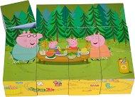 Дървени кубчета - Пепа Пиг - Дървена образователна играчка - играчка