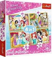 """Щастлив ден - 4 пъзела в кутия от серията """"Принцесите на Дисни"""" -"""