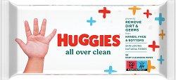 Huggies All Over Clean Baby Wipes - Бебешки мокри кърпички в опаковка от 56 броя -