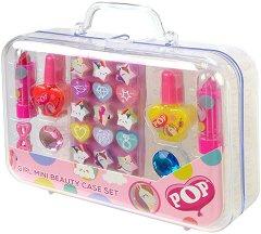 Детски комплект с гримове в куфарче - POP Girls Mini Beauty Case Set - продукт