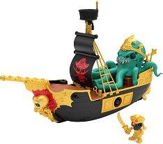 Treasure X: Sunken Gold Treasure Ship - Комплект фигура изненада и аксесоари -
