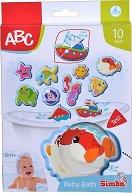 """Морски обитатели и превозни средства - Комплект детски играчки за баня от серията """"ABC"""" -"""