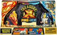Treasure X: Fire vs Ice - Extinct Beasts - Комплект фигури и аксесоари изненада - играчка