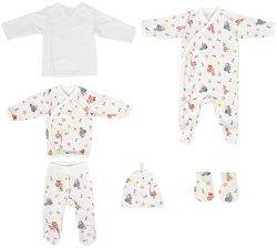 Комплект за изписване от 6 части - 100% памук за недоносени бебета -
