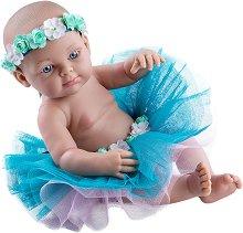 """Кукла бебе момиченце с пола и венец - От серията """"Paola Reina: Mini Pikolines"""" - играчка"""