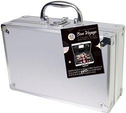 Markwins International Bon Voyage Silver - Комплект с гримове в метален куфар -