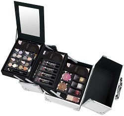 Markwins International Color Play Travel Makeup Case - Комплект с гримове в разгъваем метален куфар - червило