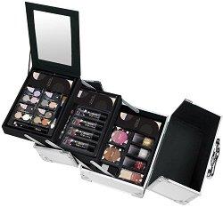 Markwins International Color Play Travel Makeup Case - Комплект с гримове в разгъваем метален куфар - продукт