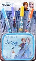"""Детски комплект с гланцове за устни и несесер - Disney Frozen 2 - Oт серията """"Замръзналото кралство"""" - душ гел"""