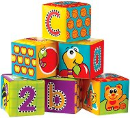 Меки кубчета - 123 - Комплект от 6 броя играчки за баня - играчка