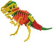 Скелет на Тиранозавър Рекс - Дървен 3D пъзел за оцветяване -