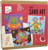 Оцветявай с цветен пясък - Космос - Творчески комплект за рисуване - играчка