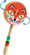 Маракас - Лисица - Детски дървен музикален инструмент -