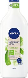 Nivea Naturally Good Natural Aloe & Hydration Body Lotion - Хидратиращ лосион за тяло с натурално алое вера - сапун