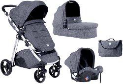 Бебешка количка 3 в 1 - Ugo 2020 - С 4 колела -
