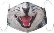 Универсална трислойна маска за многократна употреба - Котка - Комплект с филтър
