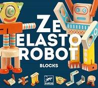 Ze Elastorobot - Детски дървен конструктор -