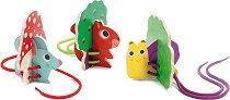 Животни - Дървен комплект за подреждане и нанизване -