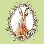 Салфетки за декупаж - Портрет на заек - Пакет от 20 броя