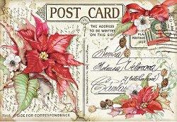 Декупажна хартия - Коледна картичка