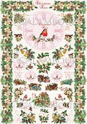 Декупажна хартия - Коледна украса 268 - Размери 33 x 48 cm
