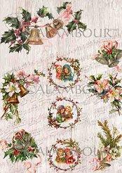 Декупажна хартия - Коледна украса 316