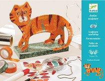 Направи сам - 3D макет на тигър - Творчески комплект -