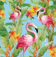Салфетки за декупаж - Фламинго - Пакет от 20 броя