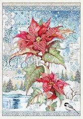 Декупажна хартия - Коледна звезда