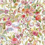 Салфетки за декупаж - Пъстри цветя - Пакет от 20 броя