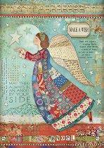 Декупажна хартия - Коледен ангел