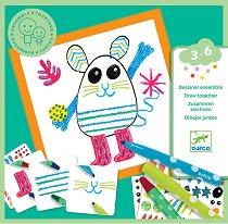 Забавни животни - Творчески комплект за рисуване -