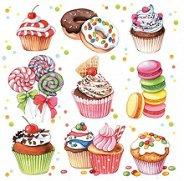 Салфетки за декупаж - Десерти - Пакет от 20 броя