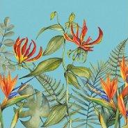 Салфетки за декупаж - Тропически цветя - Пакет от 20 броя