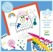 Малки чудовища - Творчески комплект за рисуване - творчески комплект